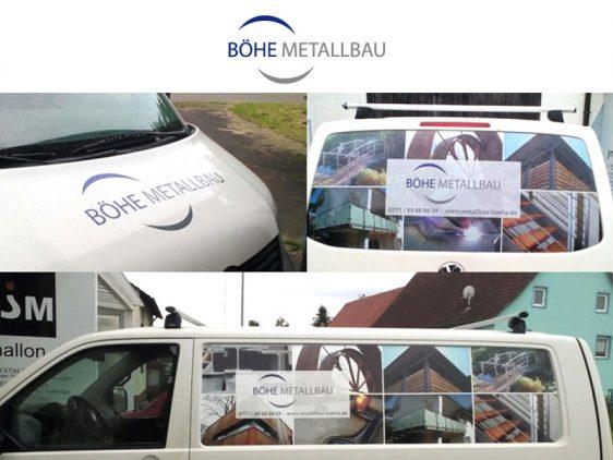 Transporter Beschriftung Metallbau Böhe