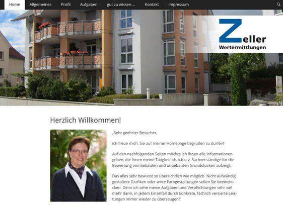 Zeller Wertermittlungen mit neuer Website online