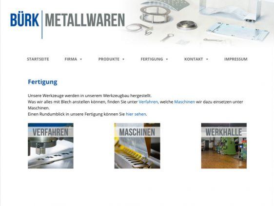 Neue Website für Bürk Metallwaren