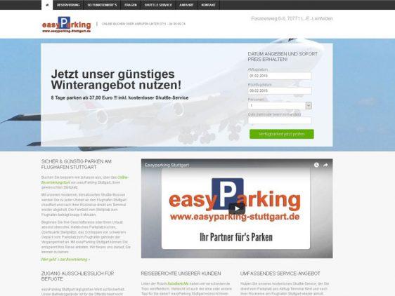 Neue Web-Texte für easyParking Stuttgart