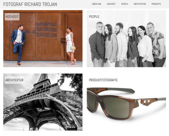 Neue responsive Website für Fotografen Richard Trojan