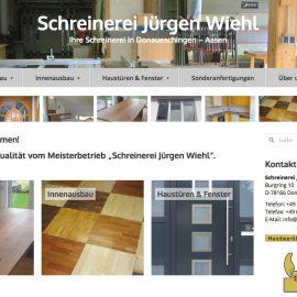 Überarbeitete Website für Schreinerei Wiehl