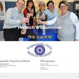 One-Pager für Augenoptik Milbradt