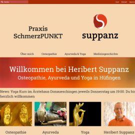Webseite Suppanz – Privatpraxis SchmerzPUNKT