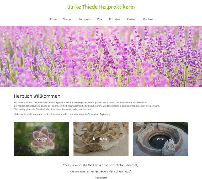 Neue Webseite für die Naturheilpraxis Ulrike Thiede aus Donaueschingen