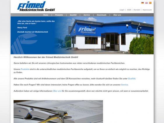 Neue Website für Frimed