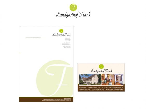 Di2 Ideenschmiede Werbeagentur News Landgasthof Frank Briefpapier und Anzeigenkampagne