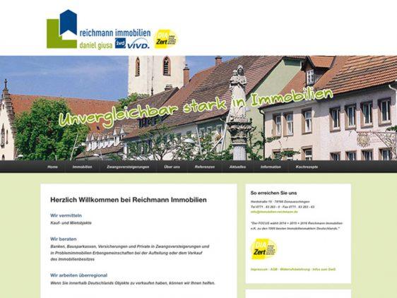 Di2 Ideenschmiede Werbeagentur News Reichmann Immobilien responsive Website