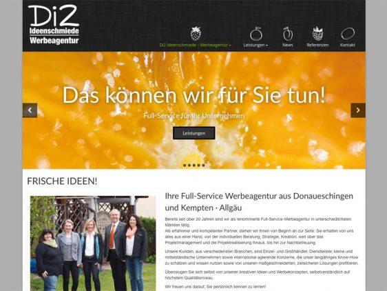 News Neue Webseite Di2 Ideenschmiede Werbeagentur
