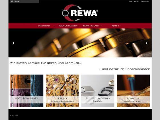 REWA mit responsiver Webseite
