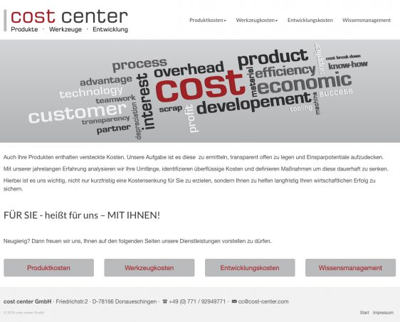 Di2 Ideenschmiede Werbeagentur News cost center Logo und Website
