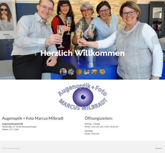 Di2 Ideenschmiede Werbeagentur News Augenoptik Marcus Milbradt One-Pager