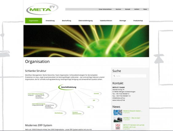 Di2 Ideenschmiede Werbeagentur News Meta E2F Website Layout