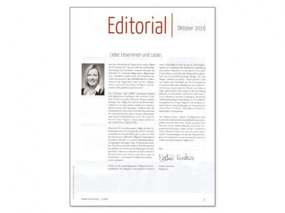 Di2 Ideenschmiede Werbeagentur News Allgäuer Wirtschaftsmagazin Editorial