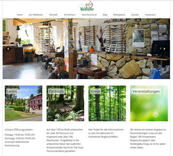 Neuer Internetauftritt – Der Waldläufer