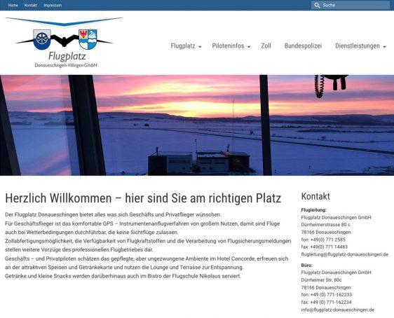 Neue Webseite Flugplatz Donaueschingen