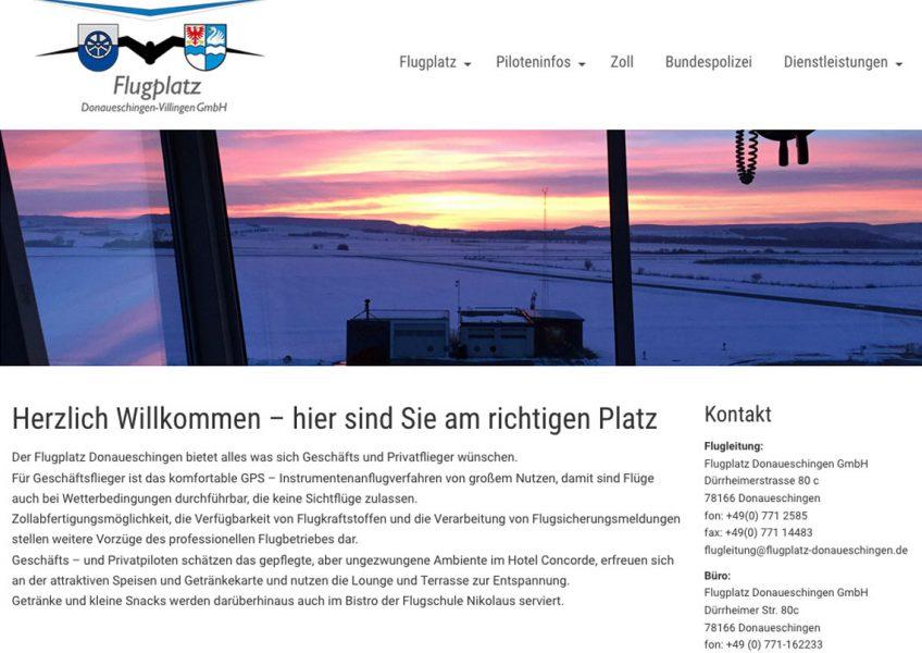 Der Flugplatz Donaueschingen hat eine neue Webseite