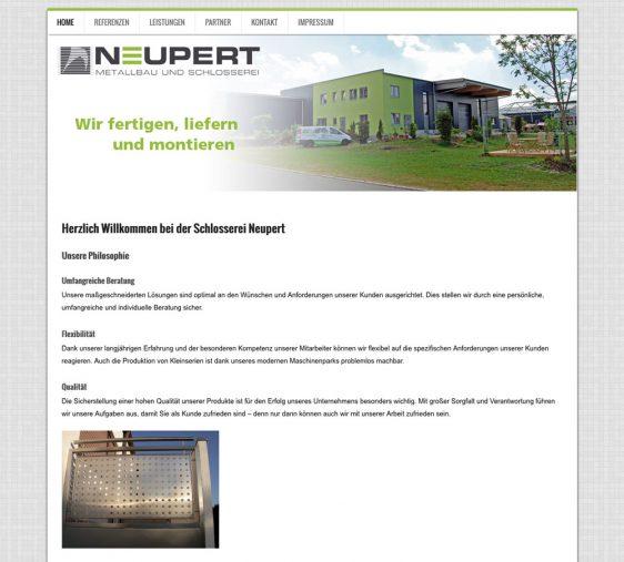 Di2 Ideenschmiede Werbeagentur News Schlosserei Neupert Website