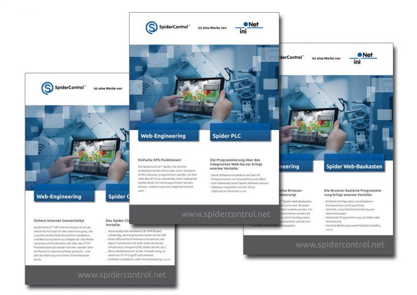 Neue Flyer-Serie für unseren Kunden iniNet Solutions
