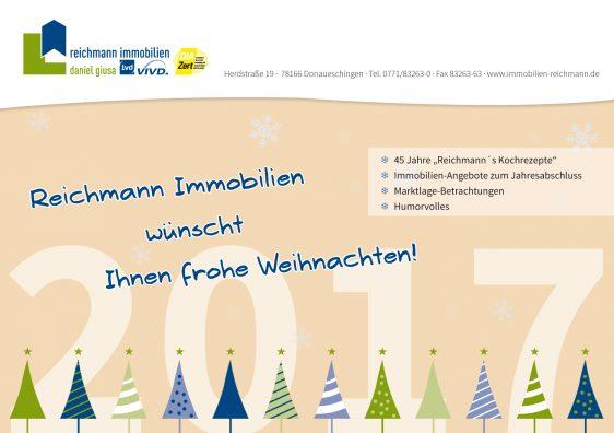 Es weihnachtet sehr … Das traditionelle Weihnachtsheft von Immobilien Reichmann ist auf dem Weg!