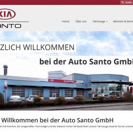 Neue Webseite für Auto Santo GmbH in Freiburg