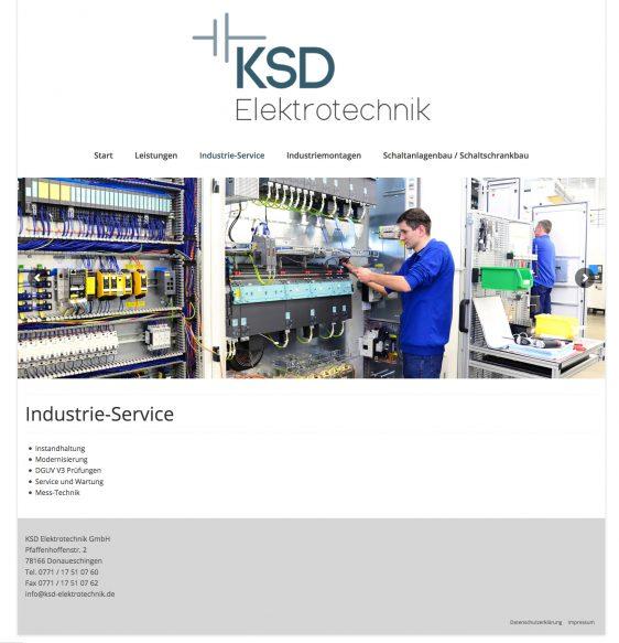 Neue Webseite für die KSD Elektrotechnik GmbH
